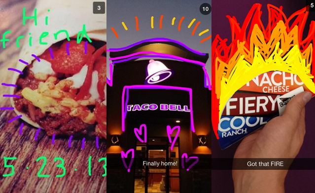 Taco Bell would send direct snapchats to its audience (pre snap story)